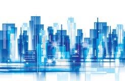Horizontal de ville illustration de vecteur