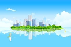 Horizontal de ville d'affaires illustration libre de droits