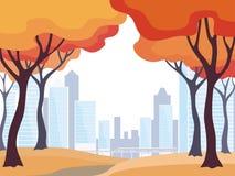 Horizontal de ville d'automne illustration libre de droits