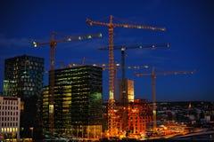 Horizontal de ville d'Oslo Images stock