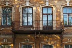 Horizontal de ville fragment Rue 9 de Gogol Monument de l'architecture du 19ème siècle photo stock