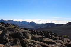Horizontal de volcan de Haleakala Photo stock