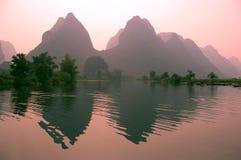 Horizontal de Yangsho avec des chemins de découpage Photos libres de droits