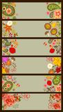 Horizontal decorative autumnal and summery banners Royalty Free Stock Images