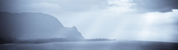 Horizontal des îles d'Hawaï Photographie stock