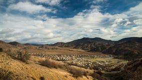 Horizontal des montagnes et du règlement Images libres de droits