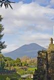Horizontal des ruines de Pompeii images libres de droits