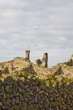 Horizontal des ruines de Pompeii photographie stock libre de droits