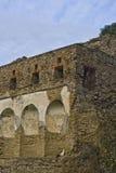 Horizontal des ruines de Pompeii photographie stock