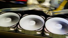 Horizontal diagonal rotating coolers abstraction Stock Photos