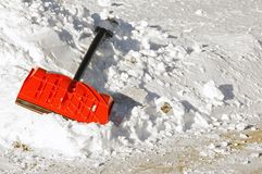 Horizontal Done Shoveling! Stock Photography
