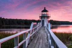 Free Horizontal Doubling Point Lighthouse Walkway Sunset Royalty Free Stock Photo - 133409055
