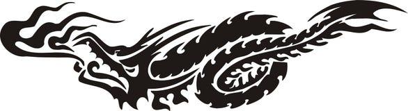 Horizontal Dragons. Royalty Free Stock Images