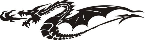 Horizontal Dragons. Stock Photo