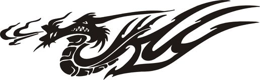 Horizontal Dragons. Royalty Free Stock Photo