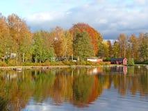 Horizontal du miroir de l'automne Photographie stock