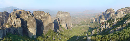 Horizontal du monastère de Meteora Photos libres de droits
