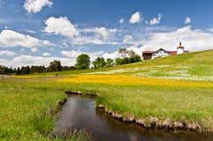 Horizontal du sud de la Bavière Images libres de droits