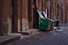 Horizontal dumpsters Stock Image