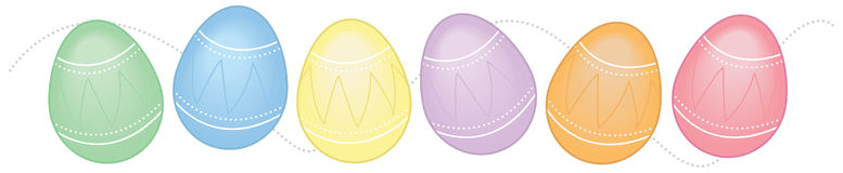 Horizontal Easter Egg Border Royalty Free Stock Images