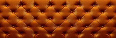 Horizontal elegant dark brown leather texture with buttons for b Stock Photo