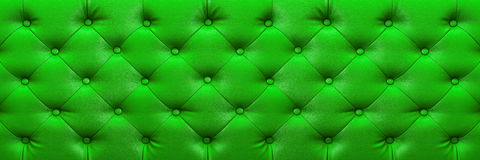 Horizontal elegant green leather texture with buttons for backgr Stock Photo