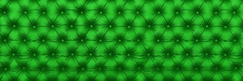 Horizontal elegant green leather texture with buttons for patter Royalty Free Stock Photo
