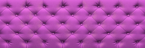 Horizontal elegant purple leather texture with buttons for backg Stock Photo