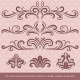 Horizontal elements decoration  Royalty Free Stock Photo