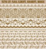 Horizontal elements decoration  Stock Image