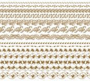 Horizontal elements decoration vector Royalty Free Stock Images