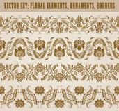 Horizontal elements decoration vector Stock Photography