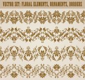 Horizontal elements decoration vector Stock Photo