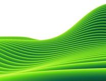horizontal en pente du tube 3d vert Image libre de droits