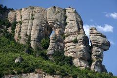 Horizontal en pierre de montagne Photos libres de droits