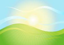 Horizontal en soleil Photos stock
