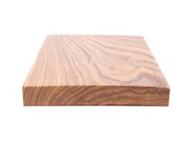 A horizontal end board (acacia). On a white background Royalty Free Stock Photography