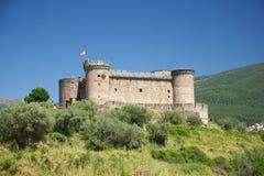 Horizontal espagnol de château Images stock