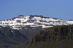 Horizontal est de l'Islande Images libres de droits