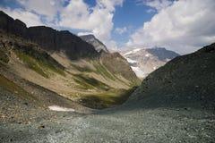Horizontal excessif de montagne Images libres de droits
