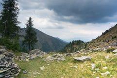 Horizontal excessif de montagne Image libre de droits