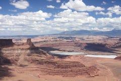 Horizontal expansible de gorge en Utah Photographie stock