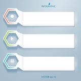 Horizontal-Fahne-Effekt-Papier-auf-ein-grau-Hintergrund Stockfotografie
