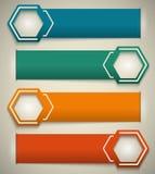 Horizontal-Fahne-Effekt-Papier-Weinlese-Hintergrund Lizenzfreies Stockfoto