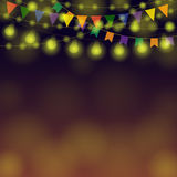 Horizontal Festival Garland Stock Photography