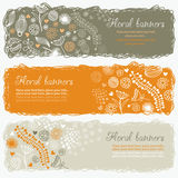 Horizontal floral banners Royalty Free Stock Image