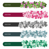 Horizontal floral banners set Royalty Free Stock Photography