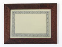 Horizontal frame. A picture frame isolated on white, for filling with text or picture Royalty Free Stock Photo