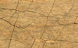 A horizontal frame of cracked rock texture natural background. Rural of india, asia stock image