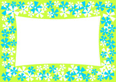 Horizontal Frame with Flowers Border Royalty Free Stock Photos